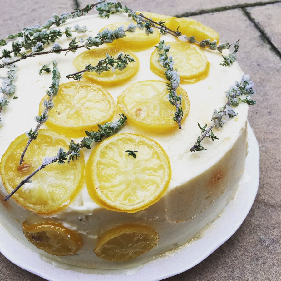 BBC Good Food's Courgette, Lemon and Thyme Cake