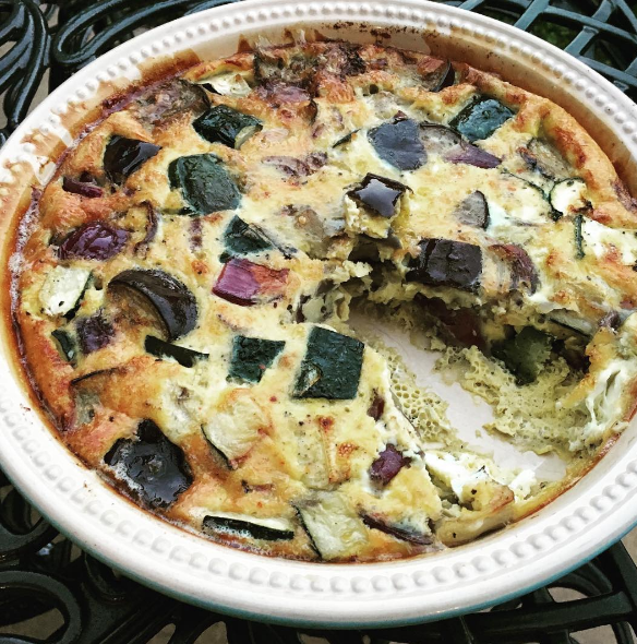 Aubergine and Courgette Frittata